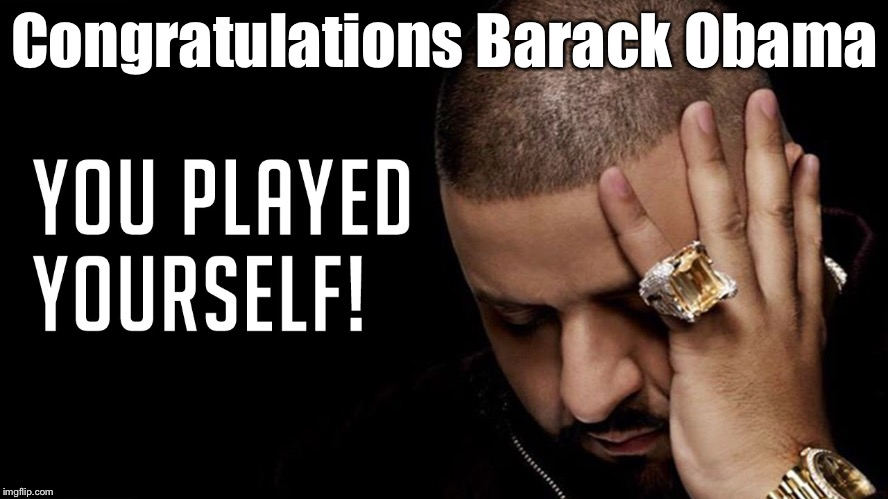 Congratulations Barack Obama | made w/ Imgflip meme maker