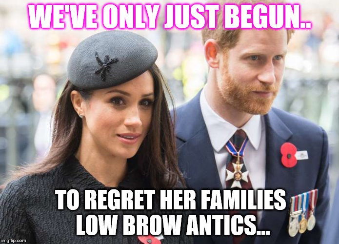 WE'VE ONLY JUST BEGUN.. TO REGRET HER FAMILIES LOW BROW ANTICS... | image tagged in white lace and promises | made w/ Imgflip meme maker