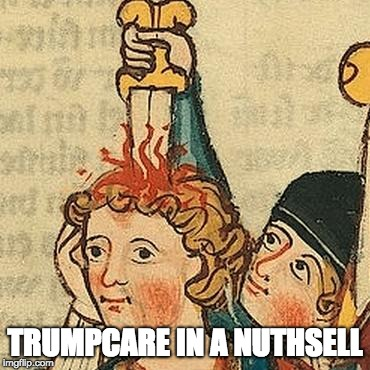 Trumpcare Reality | TRUMPCARE IN A NUTHSELL | image tagged in headache,trumpcare,memes | made w/ Imgflip meme maker