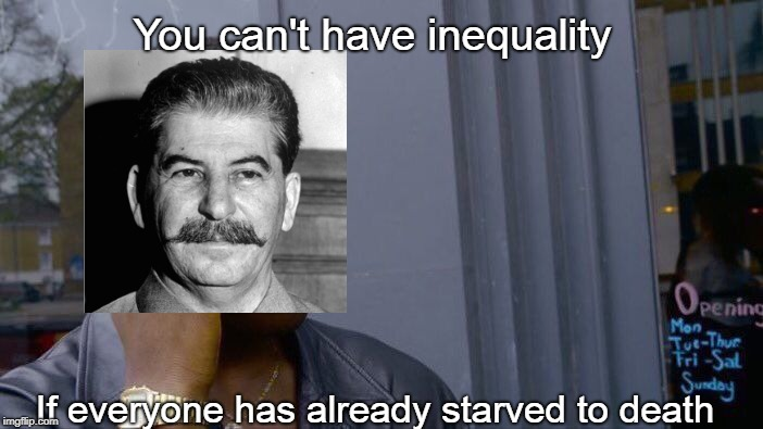 Roll Safe Think About It Meme | You can't have inequality If everyone has already starved to death | image tagged in memes,roll safe think about it | made w/ Imgflip meme maker
