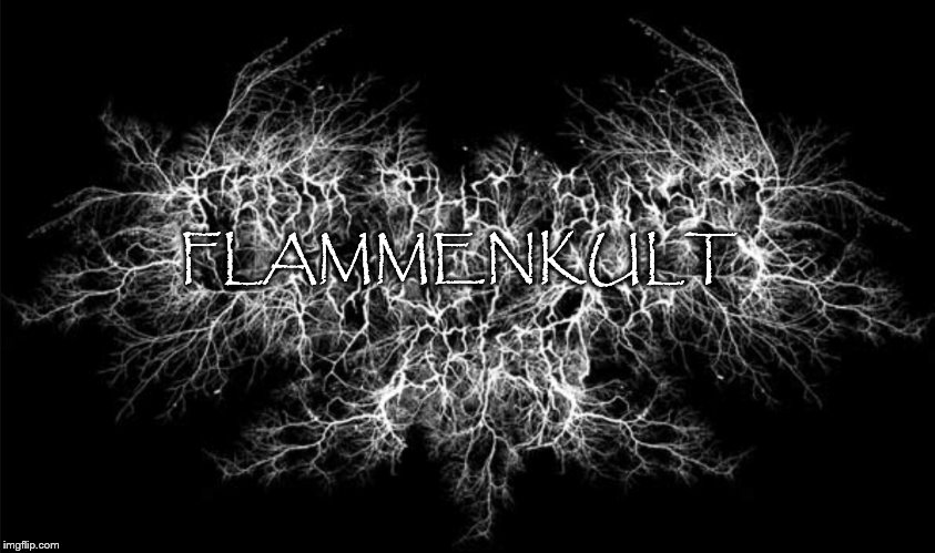FLAMMENKULT | image tagged in black metal logo | made w/ Imgflip meme maker