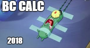 Plankton | BC CALC 2018 | image tagged in plankton | made w/ Imgflip meme maker