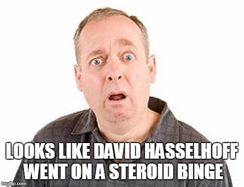 LOOKS LIKE DAVID HASSELHOFF WENT ON A STEROID BINGE | made w/ Imgflip meme maker