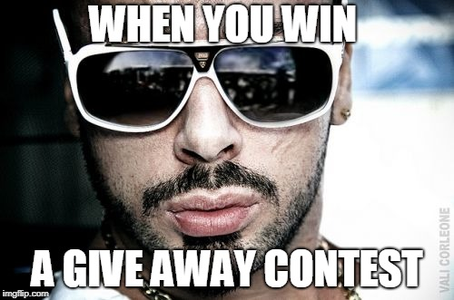 Vali Corleone | WHEN YOU WIN A GIVE AWAY CONTEST | image tagged in memes,vali corleone | made w/ Imgflip meme maker