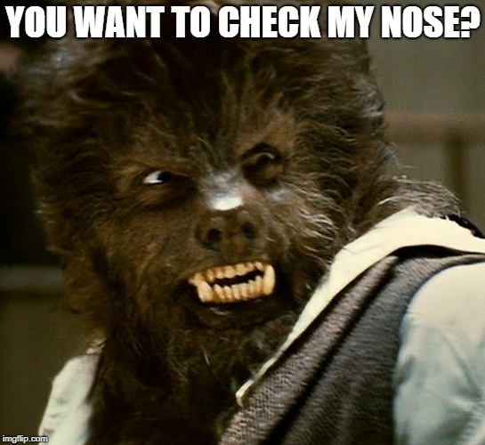 YOU WANT TO CHECK MY NOSE? | made w/ Imgflip meme maker