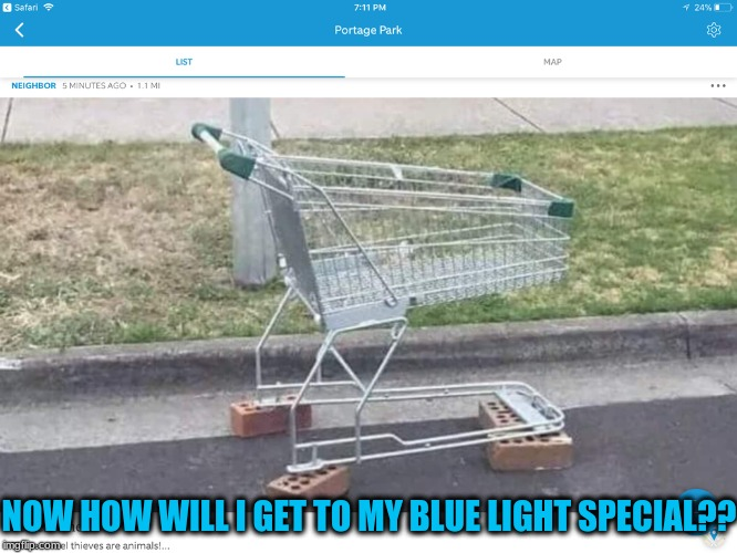 GTA be getting outta hand | NOW HOW WILL I GET TO MY BLUE LIGHT SPECIAL?? | image tagged in funny,memes,gta,shopping,kmart | made w/ Imgflip meme maker