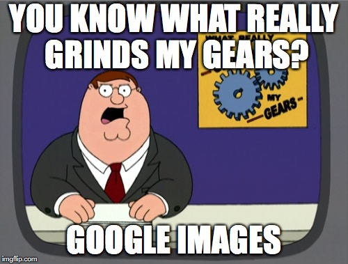Peter Griffin News Meme | YOU KNOW WHAT REALLY GRINDS MY GEARS? GOOGLE IMAGES | image tagged in memes,peter griffin news | made w/ Imgflip meme maker