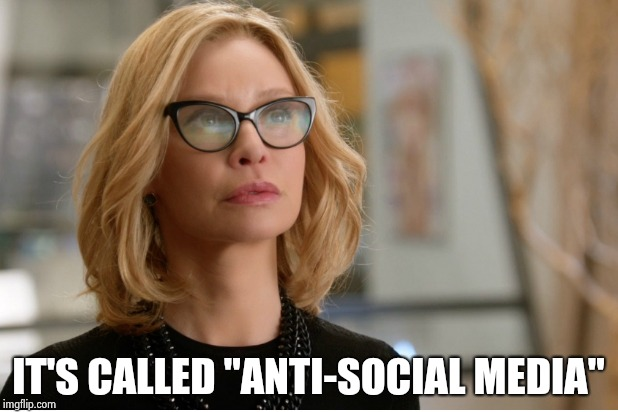 "Callista Flockhart | IT'S CALLED ""ANTI-SOCIAL MEDIA"" 