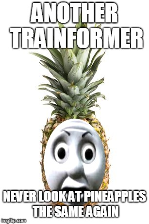 ANOTHER TRAINFORMER NEVER LOOK AT PINEAPPLES THE SAME AGAIN | made w/ Imgflip meme maker