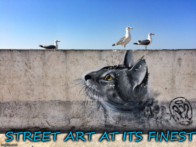 Graffiti level: master | STREET ART AT ITS FINEST | image tagged in street art,graffiti,meme | made w/ Imgflip meme maker