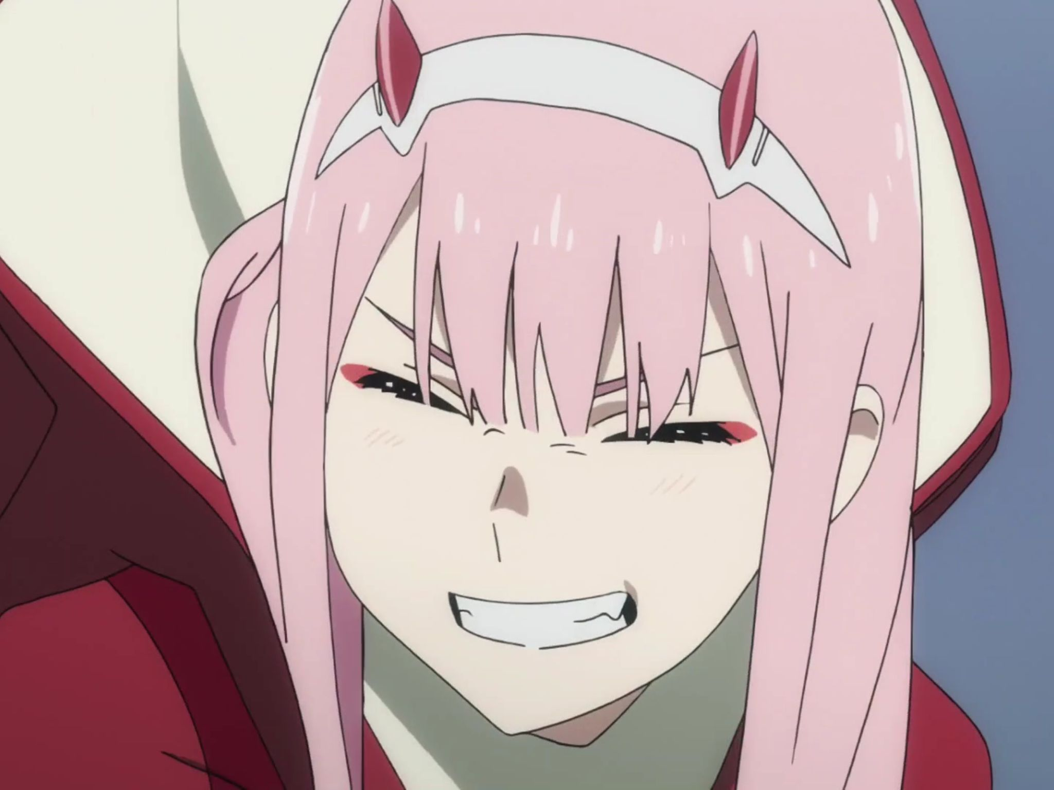 Smiling Zero Two Blank Template Imgflip