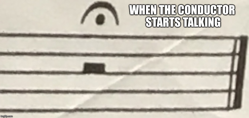 WHEN THE CONDUCTOR STARTS TALKING | image tagged in whole rest with fermada | made w/ Imgflip meme maker