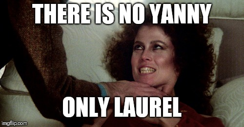 Only Laurel | THERE IS NO YANNY ONLY LAUREL | image tagged in funny,memes,black and blue dress | made w/ Imgflip meme maker