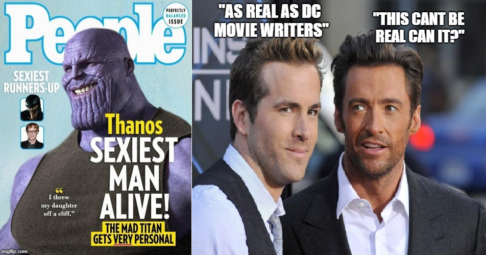 """THIS CANT BE REAL CAN IT?"" ""AS REAL AS DC MOVIE WRITERS"" 