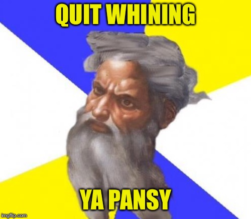 QUIT WHINING YA PANSY | made w/ Imgflip meme maker