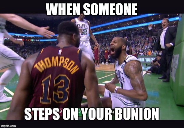 Marcus | WHEN SOMEONE STEPS ON YOUR BUNION | image tagged in marcus,memes,funny memes,basketball,nba,nba memes | made w/ Imgflip meme maker