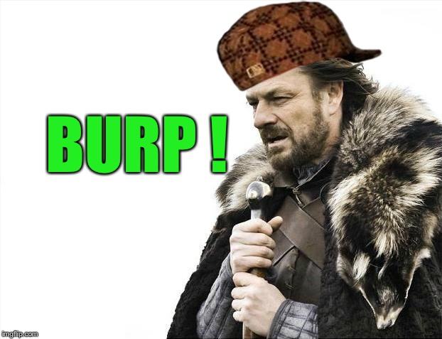 Brace Yourselves X is Coming Meme | BURP ! | image tagged in memes,brace yourselves x is coming,scumbag | made w/ Imgflip meme maker
