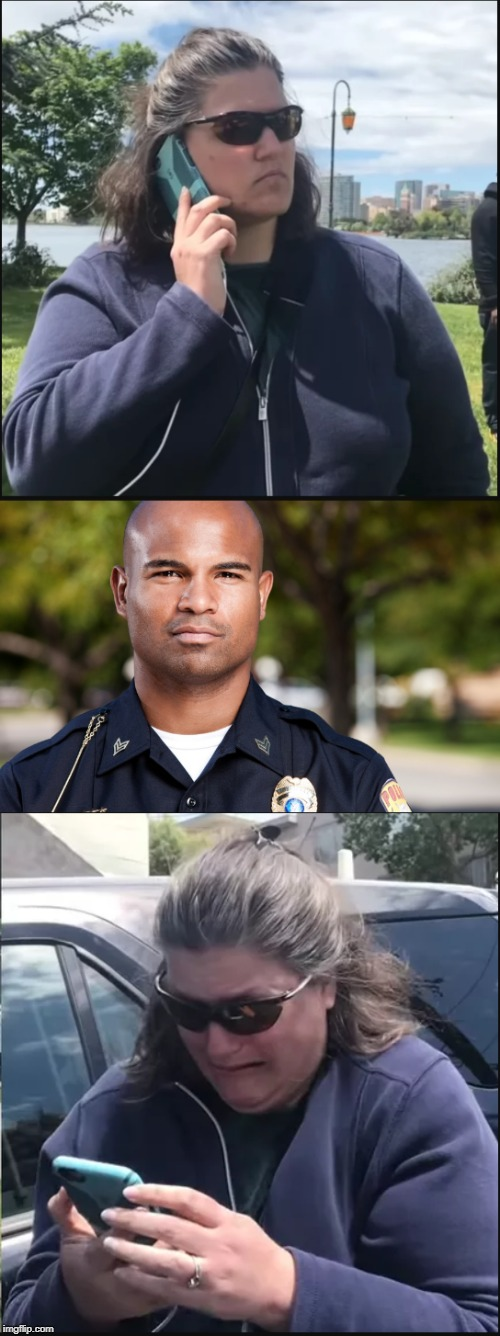 Entitled woman calling the cops | image tagged in cops,white people,racism | made w/ Imgflip meme maker