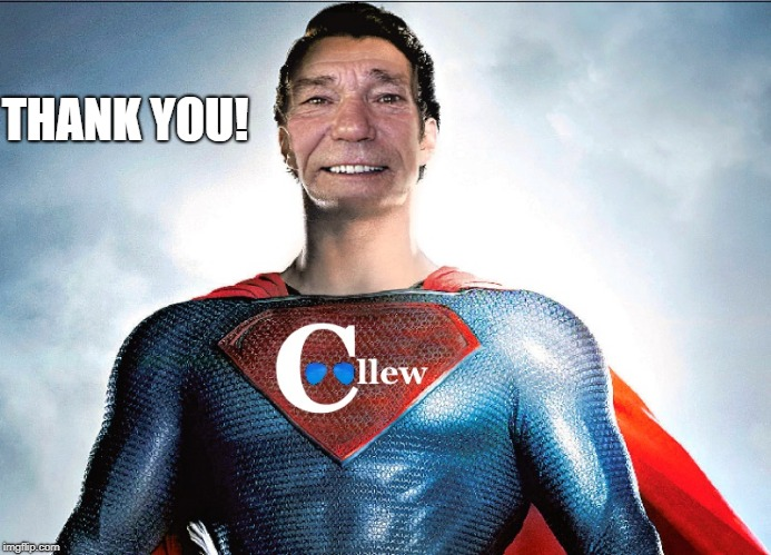 super coolou | THANK YOU! | image tagged in super coolou | made w/ Imgflip meme maker
