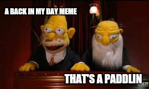 indicate  | A BACK IN MY DAY MEME THAT'S A PADDLIN | image tagged in indicate | made w/ Imgflip meme maker