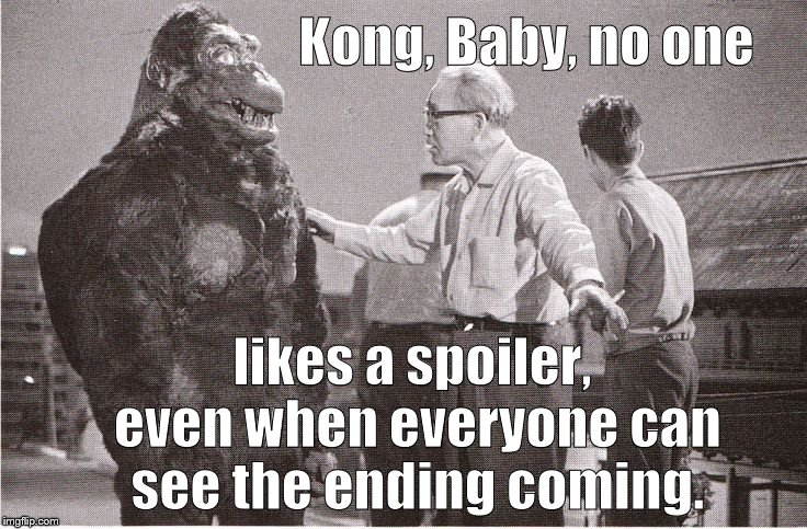 "Ishii-san tries to explain the movie business to Kong without referring to the Empire State Building or ""airplanes.""  