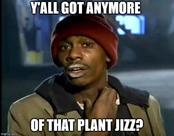 Y'all Got Any More Of That Meme | Y'ALL GOT ANYMORE OF THAT PLANT JIZZ? | image tagged in memes,y'all got any more of that | made w/ Imgflip meme maker