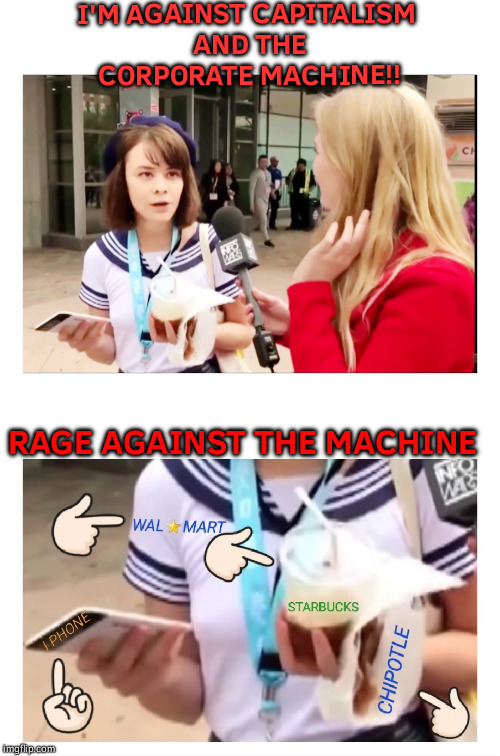 I'M AGAINST CAPITALISM AND THE CORPORATE MACHINE!! RAGE AGAINST THE MACHINE | image tagged in the socialist sailor moon | made w/ Imgflip meme maker