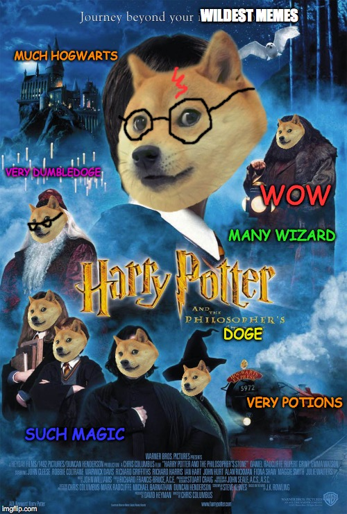 Took much time. You enjoy. So upvotes. | MUCH HOGWARTS DOGE SUCH MAGIC MANY WIZARD WILDEST MEMES VERY POTIONS VERY DUMBLEDOGE WOW | image tagged in harry potter,doge,memes,funny,dumbledore,harry potter and the sorcerer's stone | made w/ Imgflip meme maker