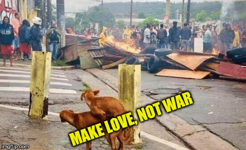 MAKE LOVE, NOT WAR | made w/ Imgflip meme maker