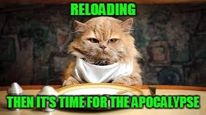RELOADING THEN IT'S TIME FOR THE APOCALYPSE | made w/ Imgflip meme maker