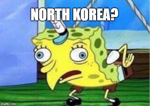 Mocking Spongebob Meme | NORTH KOREA? | image tagged in memes,mocking spongebob | made w/ Imgflip meme maker