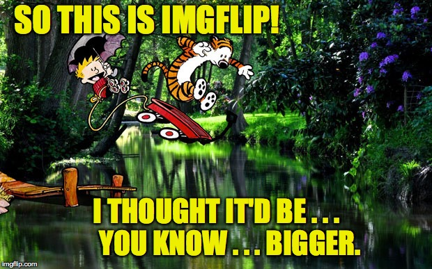 SO THIS IS IMGFLIP! I THOUGHT IT'D BE . . .     YOU KNOW . . . BIGGER. | made w/ Imgflip meme maker