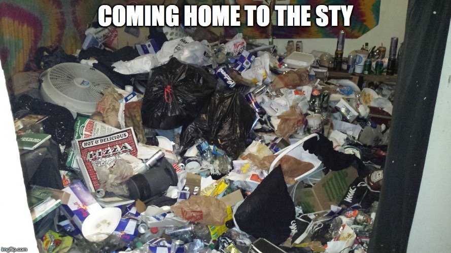 COMING HOME TO THE STY | made w/ Imgflip meme maker