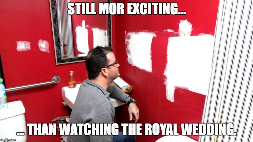 STILL MOR EXCITING... ... THAN WATCHING THE ROYAL WEDDING. | image tagged in royal wedding,boring,funny | made w/ Imgflip meme maker