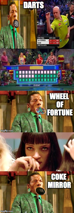 This guy is the life of the party | DARTS WHEEL OF FORTUNE COKE MIRROR | image tagged in distracted,not racist,black panther | made w/ Imgflip meme maker