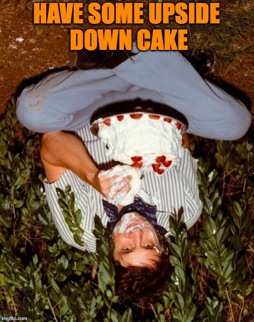 HAVE SOME UPSIDE DOWN CAKE | made w/ Imgflip meme maker