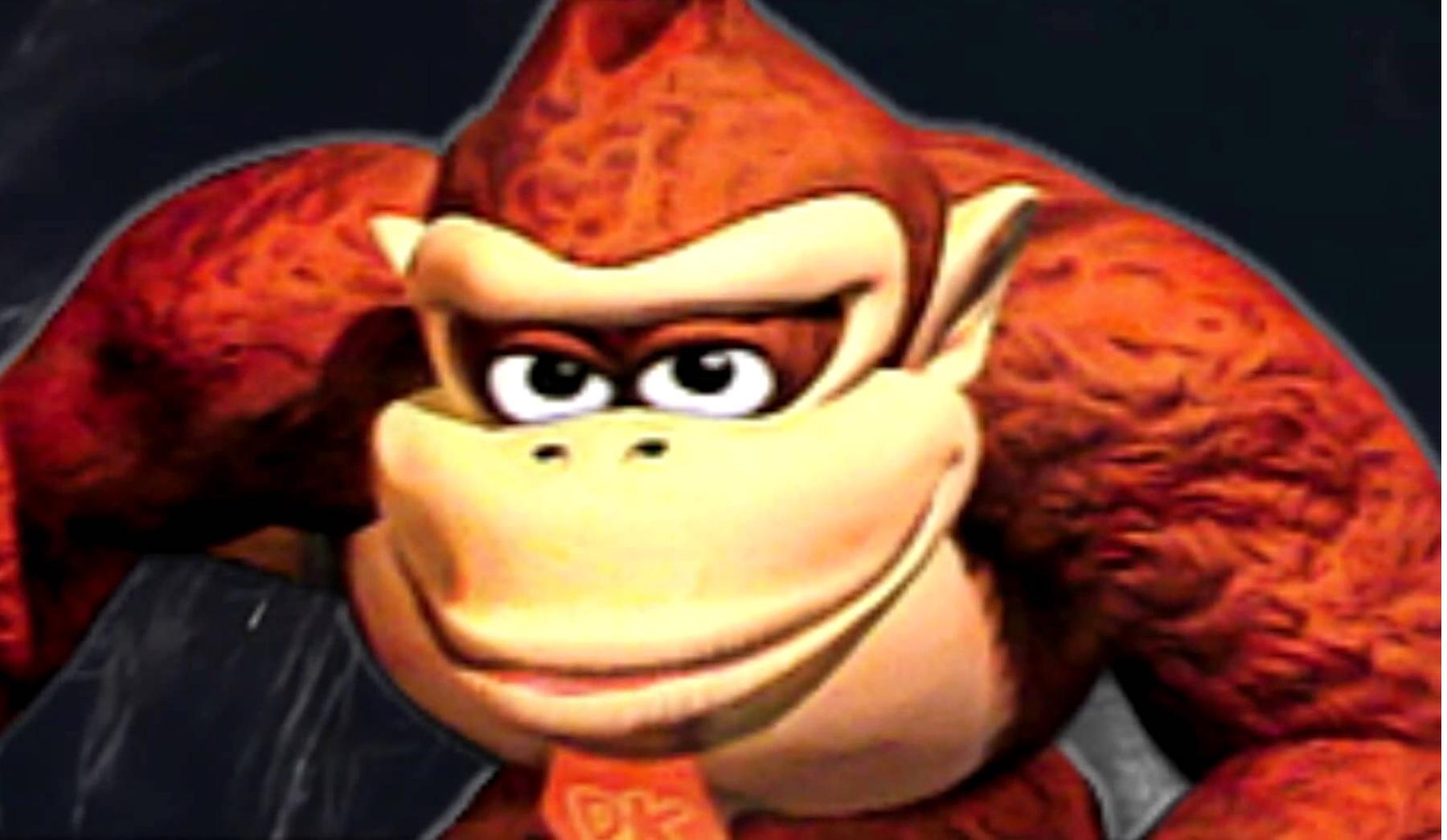 Donkey Kongs Seducing Face Blank Template Imgflip