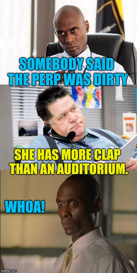 You Dirty Rat  | SOMEBODY SAID THE PERP WAS DIRTY WHOA! SHE HAS MORE CLAP THAN AN AUDITORIUM. | image tagged in wire face | made w/ Imgflip meme maker