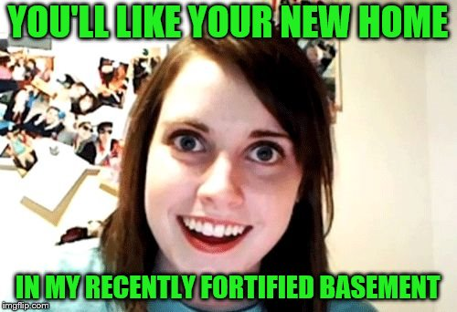 YOU'LL LIKE YOUR NEW HOME IN MY RECENTLY FORTIFIED BASEMENT | made w/ Imgflip meme maker