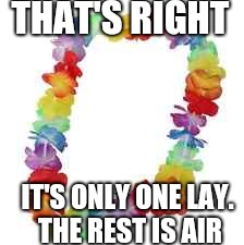 Only One | THAT'S RIGHT IT'S ONLY ONE LAY.  THE REST IS AIR | image tagged in lays chip,air bag,lays scam,hawaiian | made w/ Imgflip meme maker