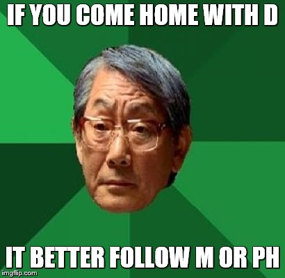 IF YOU COME HOME WITH D IT BETTER FOLLOW M OR PH | made w/ Imgflip meme maker