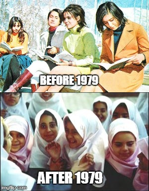 Things You Probably Didn't Know about Iran | BEFORE 1979 AFTER 1979 | image tagged in iran,islam,1979 | made w/ Imgflip meme maker