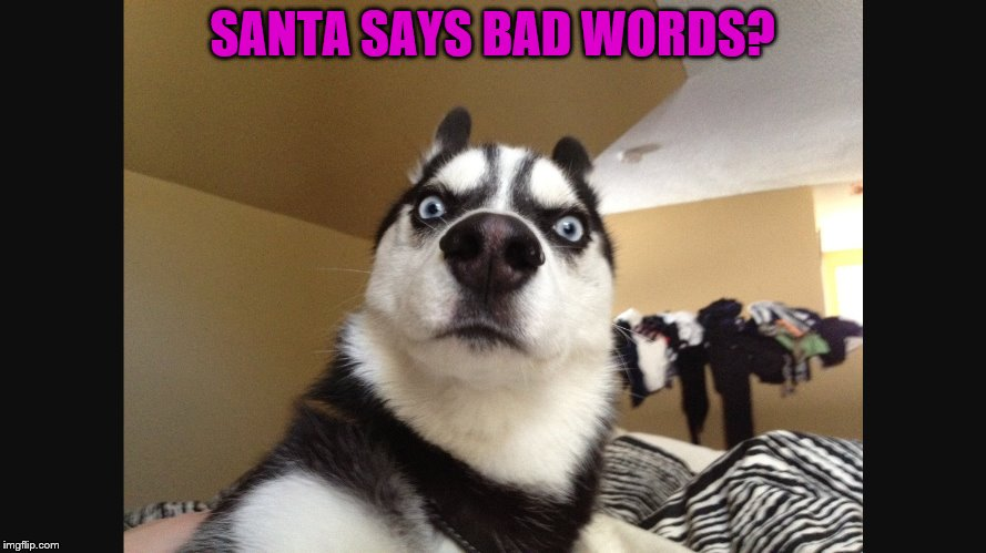 SANTA SAYS BAD WORDS? | made w/ Imgflip meme maker
