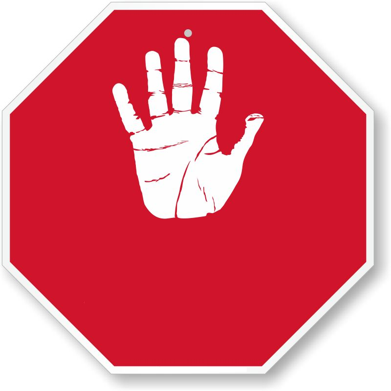stop sign blank palm hand blank template imgflip