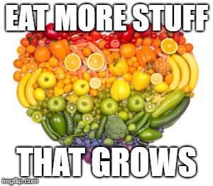 EAT MORE STUFF THAT GROWS | image tagged in plants | made w/ Imgflip meme maker