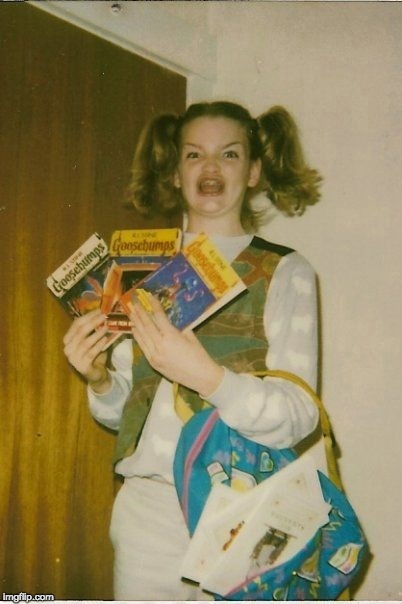 I think she's in those books  | image tagged in memes,ermahgerd berks | made w/ Imgflip meme maker