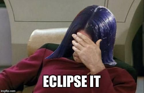 Mima facepalm | ECLIPSE IT | image tagged in mima facepalm | made w/ Imgflip meme maker