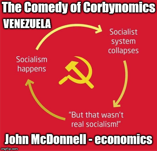 John McDonnell - Venezuela - Socialism - economics | The Comedy of Corbynomics John McDonnell - economics VENEZUELA | image tagged in socialism mcdonnell,corbyn eww,communist socialist,party of hate,john mcdonnell,can't trust labour with economy | made w/ Imgflip meme maker