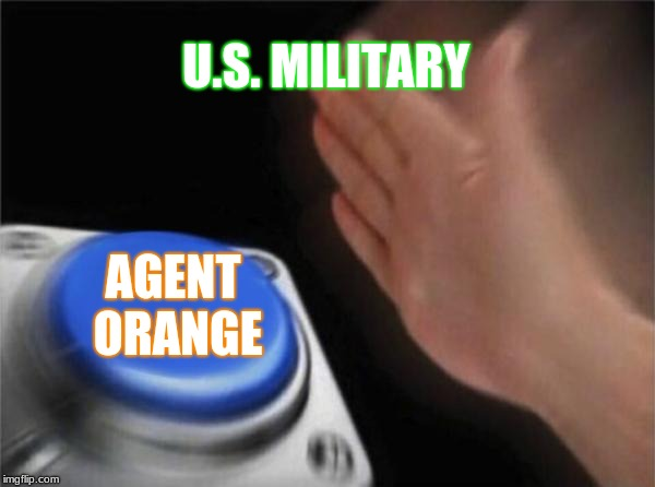 Blank Nut Button Meme | U.S. MILITARY AGENT ORANGE | image tagged in memes,blank nut button | made w/ Imgflip meme maker