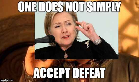 ONE DOES NOT SIMPLY ACCEPT DEFEAT | made w/ Imgflip meme maker